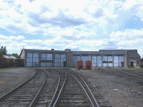 ELS roundhouse at Wells, MI